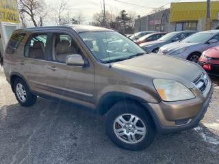Used 2002 Honda CR-V EX-L/ AWD/ LEATHER/ SUNROOF/ ALLOYS/ HEATED SEATS! for sale in Scarborough, ON