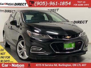 Used 2018 Chevrolet Cruze Hatchback Premier RS| LEATHER| BACK UP CAMERA| for sale in Burlington, ON