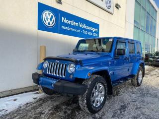 Used 2016 Jeep Wrangler Unlimited SAHARA 4X4 - LEATHER / HEATED SEATS / NAVI for sale in Edmonton, AB
