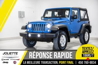 Used 2015 Jeep Wrangler Sport, DÉMARREUR À DISTANCE, AIR CLIMATISÉE, RÉGUL for sale in Joliette, QC