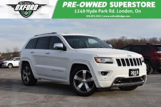 Used 2015 Jeep Grand Cherokee Overland - Very Clean, Roof Rack, Sat Radio, Sunro for sale in London, ON