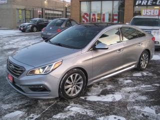 Used 2015 Hyundai Sonata SPORT|PANO ROOF|LEATHER|NAVIGATION|SERVICE RECORDS for sale in North York, ON