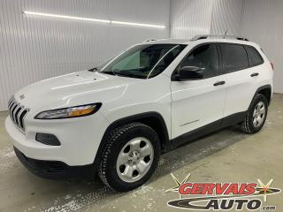 Used 2016 Jeep Cherokee Sport V6 4x4 Temps Froid + Hitch for sale in Shawinigan, QC