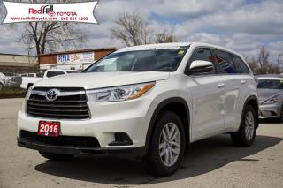 Used 2016 Toyota Highlander LE Low Kilometres, Off Lease! for sale in Hamilton, ON
