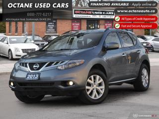 Used 2013 Nissan Murano Accident-Free! SL! AWD! for sale in Scarborough, ON