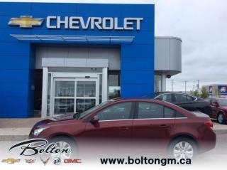 Used 2015 Chevrolet Cruze 1LT - Low kilometres - One owner - Accident FREE - for sale in Bolton, ON