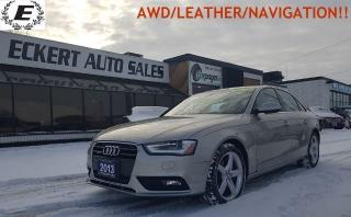 Used 2013 Audi A4 Premium Plus/QUATTRO/NAVIGATION!! for sale in Barrie, ON