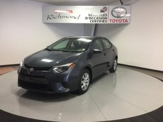 Used 2016 Toyota Corolla LE Gr:A *CAMÉRA + SIÈGES CHAUFFANTS* for sale in Richmond, QC