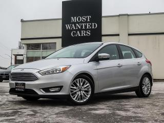 Used 2018 Ford Focus Titanium HATCHBACK|LEATHER|SUNROOF|CAMERA|CLEAN CARFAX for sale in Kitchener, ON
