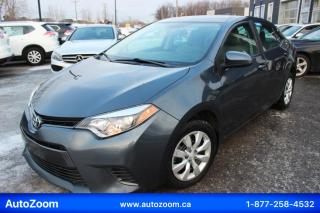 Used 2016 Toyota Corolla LE  **WOW** FINANCEMENT FACILE !! for sale in Laval, QC