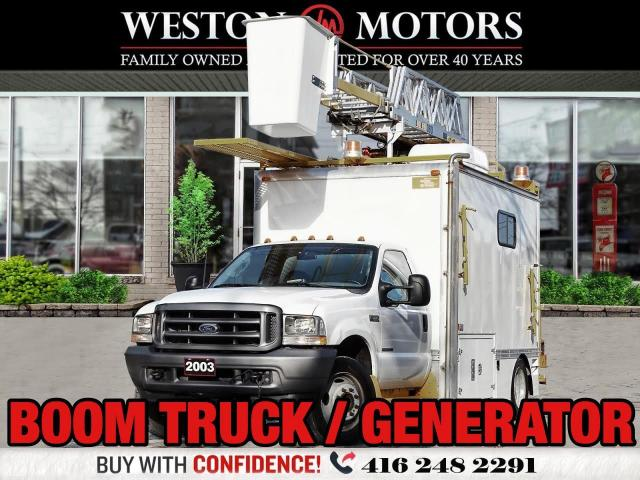 2003 Ford F-550 BOOM TRUCK*XTENSION*GENERATOR*LADDER RACK*LOW KMS*