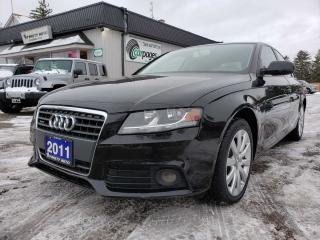 Used 2011 Audi A4 2.0T Sedan quattro Tiptronic for sale in Bloomingdale, ON