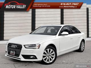 Used 2013 Audi A4 2.0T Quattro Very Clean! for sale in Scarborough, ON