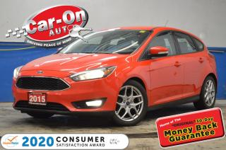 Used 2015 Ford Focus SE HATCH AUTO LEATHER REAR CAM HTD SEATS/STEERING for sale in Ottawa, ON