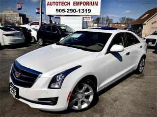 Used 2015 Cadillac ATS Luxury Prl White AWD Navigation/Camera/Bluetooth for sale in Mississauga, ON