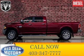Used 2018 RAM 3500 4x4 Crew Cab Longhorn Diesel Longbox Leather Roof Nav for sale in Red Deer, AB