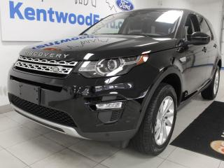 Used 2019 Land Rover Discovery Sport Sport HSE with a moonroof, heated power leather seats, push start/stop and a back up cam for sale in Edmonton, AB
