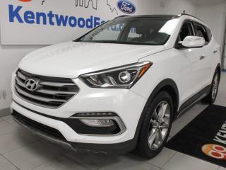 Used 2017 Hyundai Santa Fe Sport Limited sport 2.0T AWD with panoramic roof, heated power leather seats, heated rear seats, heated steering wheel, power liftgate and back up cam for sale in Edmonton, AB