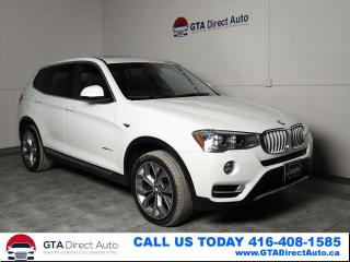 Used 2016 BMW X3 xDrive28d AWD Diesel X-Line Nav Pano Cam Certified for sale in Toronto, ON