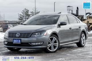 Used 2015 Volkswagen Passat TDI HIGHLINE Clean Carfax Certified Finance Deisel for sale in Bolton, ON