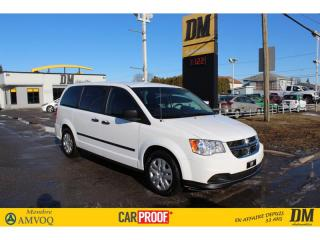 Used 2017 Dodge Grand Caravan SE  CLIMATISATION     CRUISE     GROUPE ÉLECTRIQUE for sale in Salaberry-de-Valleyfield, QC