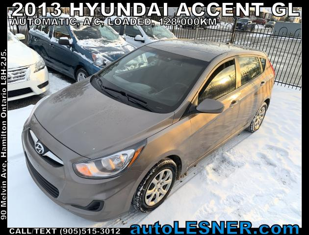 2013 Hyundai Accent -ZERO DOWN, $138 for 60 months FINANCE TO OWN!