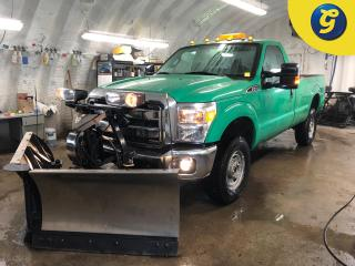 Used 2014 Ford F-250 Super Duty Turbo Diesel * 4X4 * Reg Cab * Fisher multiple angle snow plow * 8 Foot long box * Tow/haul package with brake assist * 4 Auxiliary outlets for sale in Cambridge, ON