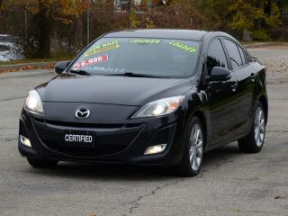 Used 2010 Mazda MAZDA3 GT,LEATHER,BLUETOOTH,SUNROOF,PWR-HEATED SEATS,TINT for sale in Mississauga, ON