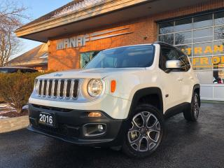 Used 2016 Jeep Renegade 4WD Limited Sunroof Navi Rear Cam Park Assist Cert for sale in Concord, ON
