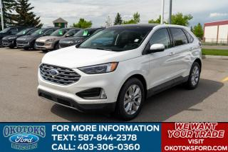 New 2020 Ford Edge Titanium Panoramic Roof, Voice-Activated Navigation, Cold Weather Package, Heated/Cooled Seats, Heated Steeri for sale in Okotoks, AB