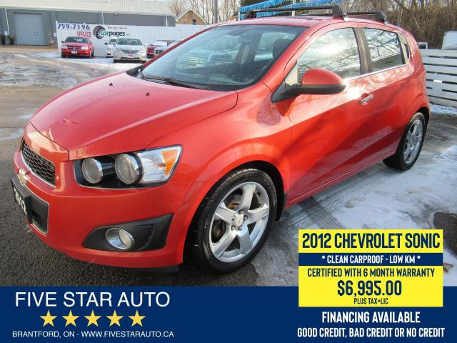 2012 Chevrolet Sonic LT *Clean Carfax* Certified w/ 6 Month Warranty