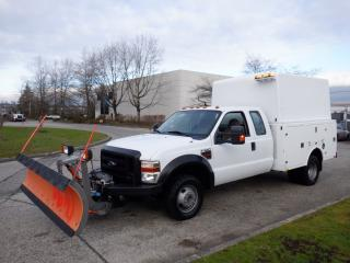 Used 2009 Ford F-350 SD XL SuperCab 4WD Service Truck with Plow Diesel for sale in Burnaby, BC