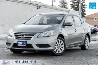Used 2014 Nissan Sentra SV Push-start Certified Service Records We Finance for sale in Bolton, ON