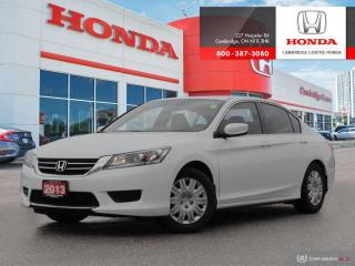 Used 2013 Honda Accord LX DUAL CLIMATE ZONES | ECON MODE | HEATED FRONT SEATS for sale in Cambridge, ON