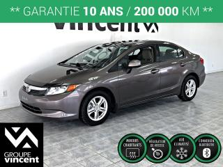 Used 2012 Honda Civic LX ** GARANTIE 10 ANS ** Fiable et pratique! for sale in Shawinigan, QC