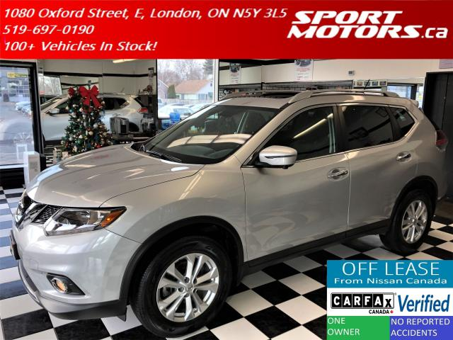 2016 Nissan Rogue SV Tech+AWD+GPS+Blind Spot+Pano Roof+360 Camera+XM