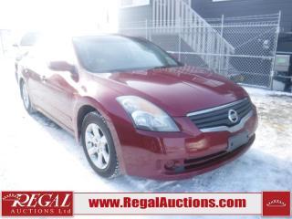 Used 2007 Nissan ALTIMA SL 4D SEDAN FWD for sale in Calgary, AB