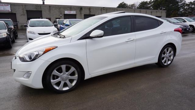 2013 Hyundai Elantra LIMITED AUTO SEDAN CERTIFIED 2YR WARRANTY *1 OWNER*FREE ACCIDENT* SUNROOF LEATHER BLUETOOTH ALLOYS