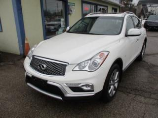 Used 2016 Infiniti QX50 LOADED ALL-WHEEL DRIVE 5 PASSENGER 3.7L - V6.. LEATHER.. HEATED SEATS.. BACK-UP CAMERA.. BLUETOOTH SYSTEM.. POWER SUNROOF.. for sale in Bradford, ON