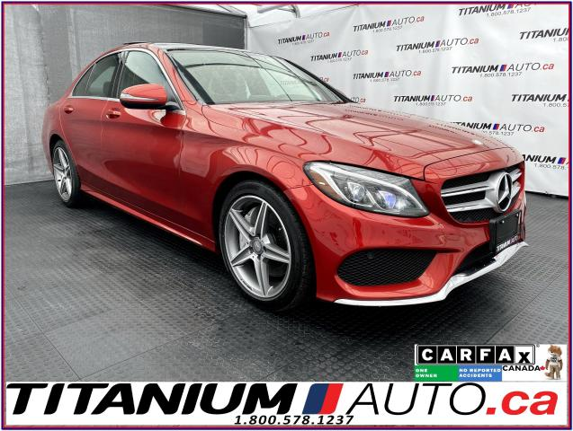 2016 Mercedes-Benz C-Class AMG Sport PKG+GPS+Camera+Pano Roof+Blind Spot+AWD+