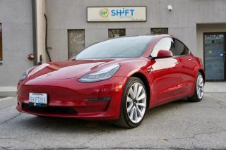 Used 2018 Tesla Model 3 LONG RANGE REAR WHEEL DRIVE ENHANCED AP2, FSD - FULL SELF DRIVING, SPORT WHEELS! for sale in Burlington, ON