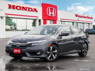 Used 2016 Honda Civic Touring One owner, Off lease loaded Civic! Powertrain warranty until 100,000KM! for sale in Waterloo, ON