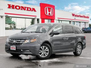 Used 2016 Honda Odyssey EX-L Accident Free, One Owner Vehicle Bought and Serviced Right Here at Waterloo Honda! Honda Certified P for sale in Waterloo, ON