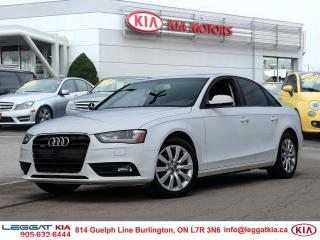 Used 2013 Audi A4 ALLOYS, SUNROOF, LEATHER, AUTO CLIMATE CONTROL, QUATTRO for sale in Burlington, ON