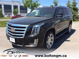 Used 2017 Cadillac Escalade - One owner -  Accident FREE - Luxury Package - for sale in Bolton, ON