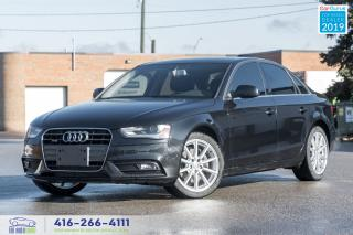 Used 2014 Audi A4 M-6 AWD Progress+Nav CleanCarfax Certified Finance for sale in Bolton, ON
