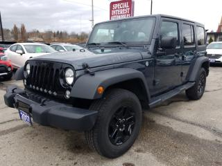 Used 2017 Jeep Wrangler Unlimited Sport HARD TOP/SOFT TOP !!  TOUCH SCREEN !!  AUTO !! for sale in Cambridge, ON
