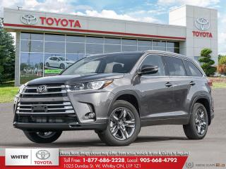 New 2019 Toyota Highlander Limited AWD LA20 for sale in Whitby, ON