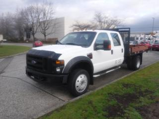 Used 2008 Ford F-450 SD Flat Deck 10 Foot Crew Cab 2WD Diesel for sale in Burnaby, BC