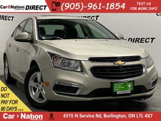 Used 2015 Chevrolet Cruze 2LT| LEATHER| SUNROOF| BACK UP CAMERA| for sale in Burlington, ON